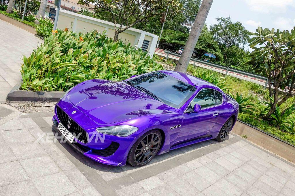 Bắt gặp Maserati GranTurismo tím tán sắc của Hà Nội quot;vi