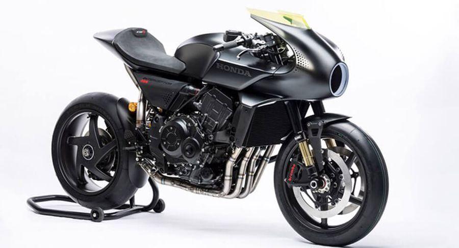 Honda đưa thiết kế cổ điển pha trộn hiện đại vào Honda CB4 Interceptor concept -  Hình 1