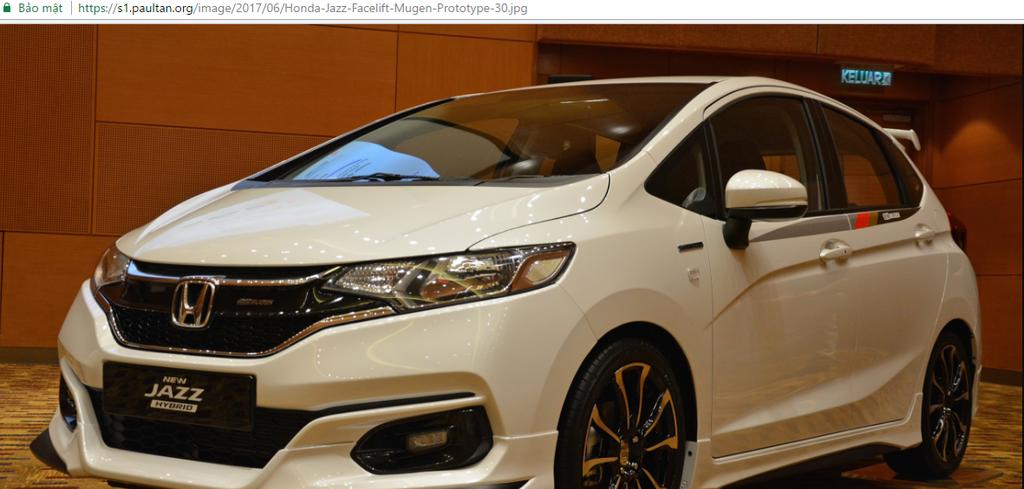 Honda  Jazz 2017 Malaysia chính thức ra mắt  với phụ tùng Mugen đặc biệt