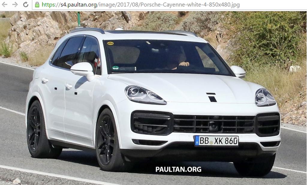 Porsche Cayenne 2018 sắp ra mắt