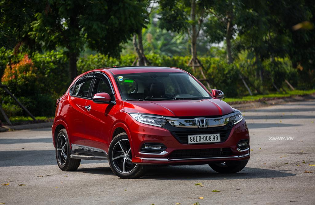 Đầu xe Honda HRV 2019 màu đỏ