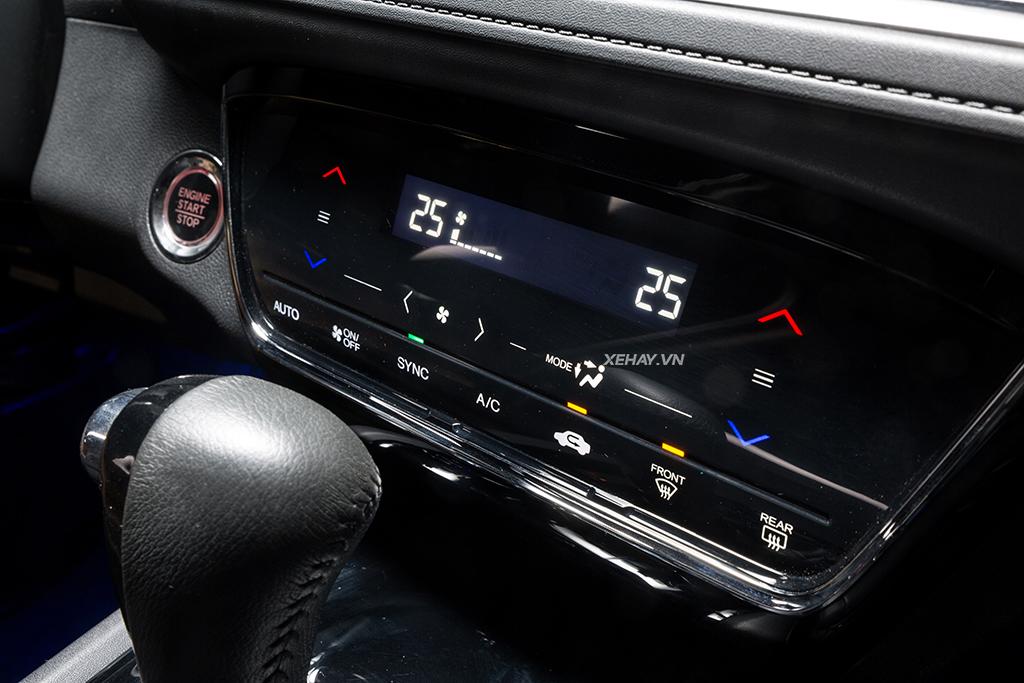 Hệ thống điều hòa cảm ứng trên xe Honda HRV 2019