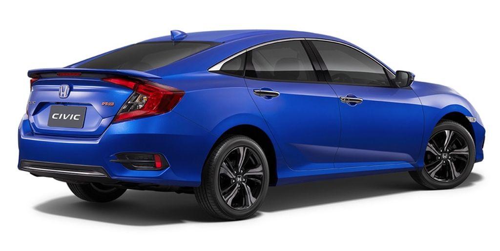 Hông xe Honda Civic 2019 màu xanh