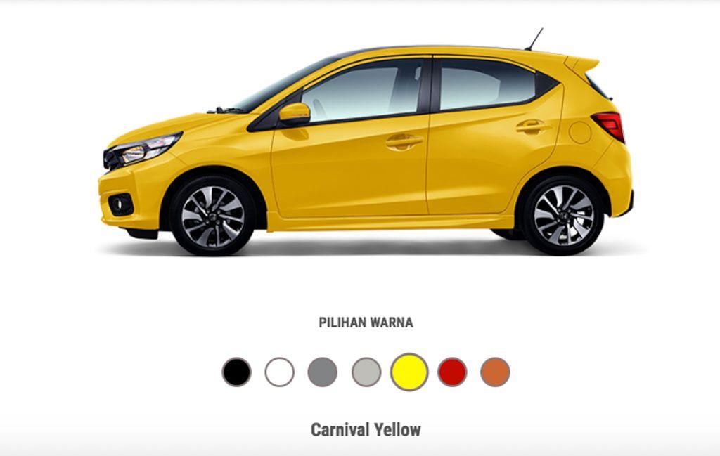 Honda Brio 2019 màu vàng mới