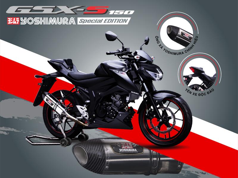 """Suzuki GSX-S150 phiên bản Yoshimura, thêm """"bùa yêu"""" cho chiến mã - Hình 1"""