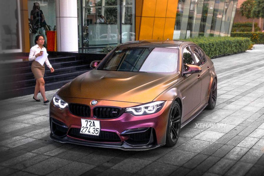 Sài Gòn: BMW M3 thu hút với dàn áo màu tán sắc độc đáo