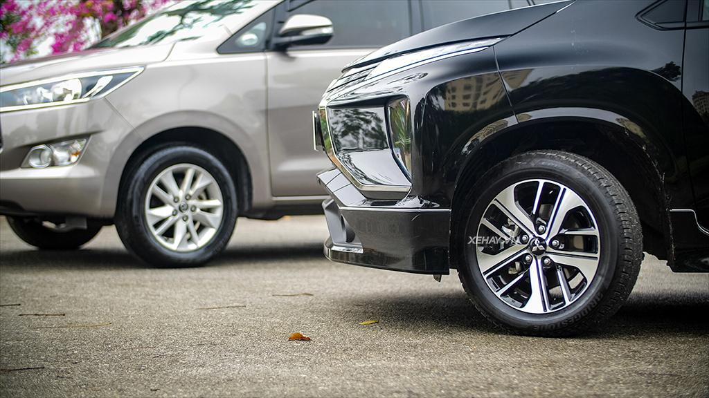 So sánh đầu xe Xpander với xe Innova