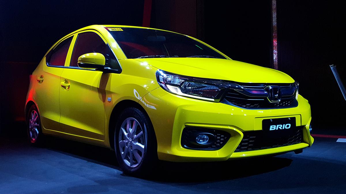 Honda Brio 2019 màu vàng mới nhập khẩu