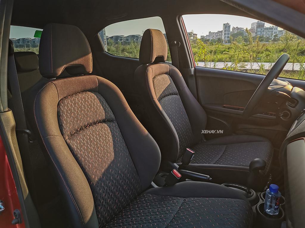 Hàng ghế đầu xe Honda Brio RS 2019 2020