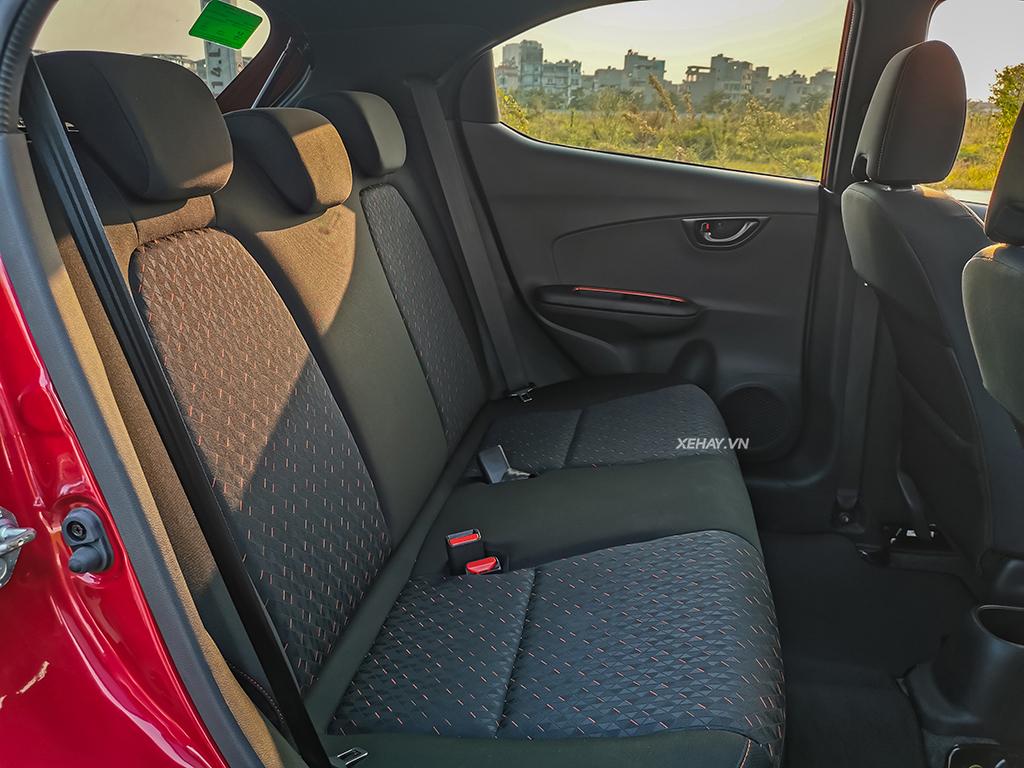 Hàng ghế sau Honda Brio RS 2019