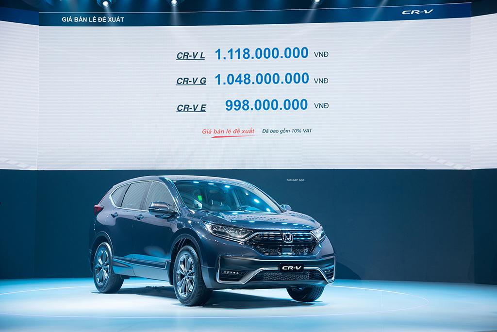 Bảng giá xe Honda CR-V 2021 mới