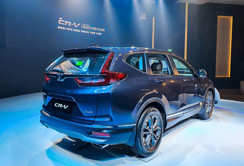 Thân xe Honda CRV 2020 màu xanh mới