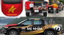 """Nam diễn viên Lê Hồng Đăng """"thay áo"""" cho Ford Ranger Wildtrak để cổ vũ cho đội tuyển bóng đá Việt Nam"""