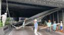 TP HCM: Sập trần mái che đường dẫn hầm Thủ Thiêm, giao thông ùn tắc cục bộ