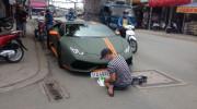 Sài Gòn: Lamborghini Huracan độ mâm khủng, gắn biển số chuẩn bị đi chơi lễ 2/9