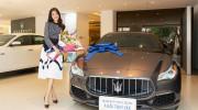 Á hậu Thúy Vân - người dẫn Shark Tank 2018 tậu Maserati Quattroporte 7,9 tỷ đồng