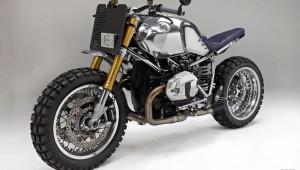 BMW R nineT độ theo phong cách cafe racer với khung mạ crome
