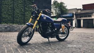 Yamaha SR400 tại Việt Nam được độ theo phong cách cafe racer lai tracker